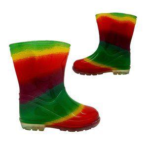 Rain Boots Aussie Gumboot Splash Rainbow 4-2